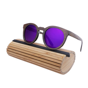 Wood Frame Sunglasses Bamboo Sunglasses with Polarized Lens UV 400 100% UV Protection
