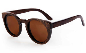Wood Frame Sunglasses Bamboo Sunglasses with Polarized Lens UV 400 100% UV Protection - brown lenses