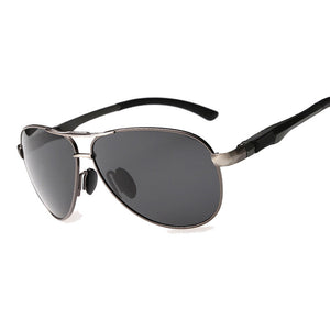 Polarized Aviator Style Sunglasses with Metal Frame