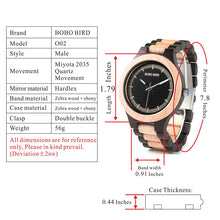 Wood Watch with Retro Style Analog Clock Face and Wood Strap and Wood Gift Box