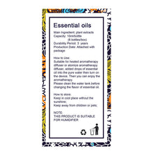 Essential Oil for Aromatherapy Diffuser Instructions