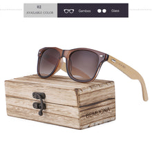 Wood Frame Bamboo Sunglasses UV 400 100% UV Protection - brown acrylic front, brown lenses