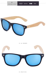 Wood Frame Bamboo Sunglasses UV 400 100% UV Protection