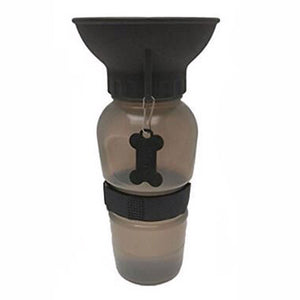 dog water bottle in brown