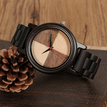 bamboo watch with dark wood band