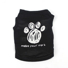 black dog coat with Make Your Mark saying