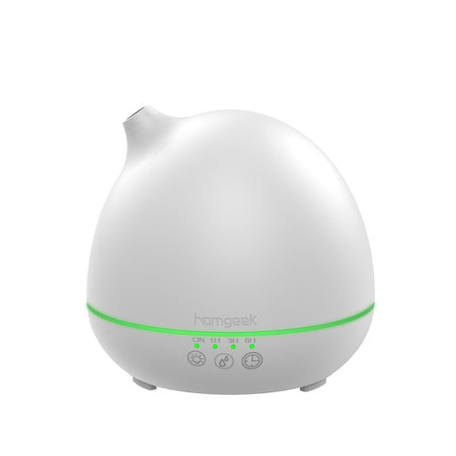 white aromatherapy essential oil diffuser round shape 7 LED light color changing