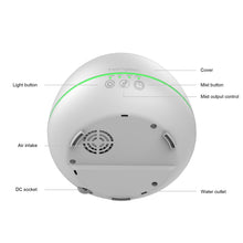 white aromatherapy essential oil diffuser round shape 7 LED light color changing layout