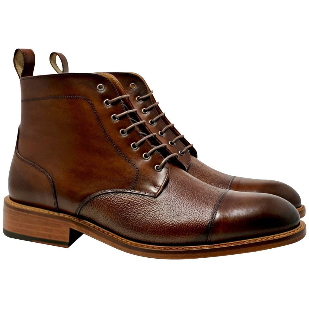 mens leather brown boots handmade from Spain