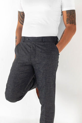 blue grey simple patterned trouser, modern fit