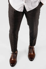 Plaid Patterned Trouser in Brown