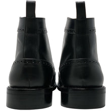 Double back view winged leather boot; The Cruz Boot in Black