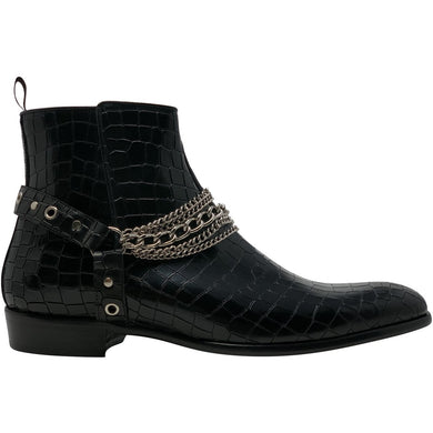 An image of our Maldonado boot with crocodile design.