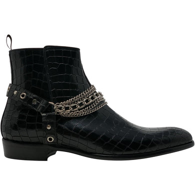 Second Sale: The Maldonado Boot in Embossed Croc Leather