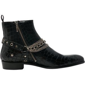 The Maldonado Boot in Embossed Croc Leather