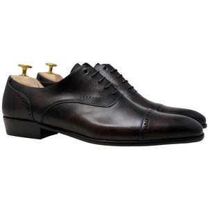 Mens dark brown leather shoes from Spain