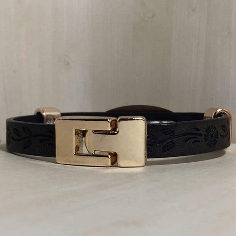 buyamedicalalert.com Personalised Leather Blackwell Medical Alert ID Bracelet
