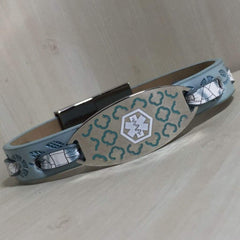 Era Leather Medical Alert ID Bracelet - Personalised