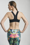 COTILU ACTIVEWEAR • CROSSED-BACK SPORTS BRA (BLACK)