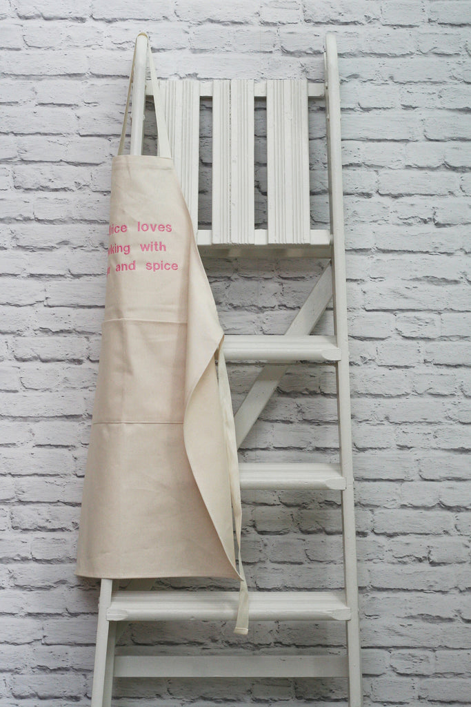 Personalised Girl's 'Sugar and Spice' Apron - HIDE & SEEK TEXTILES