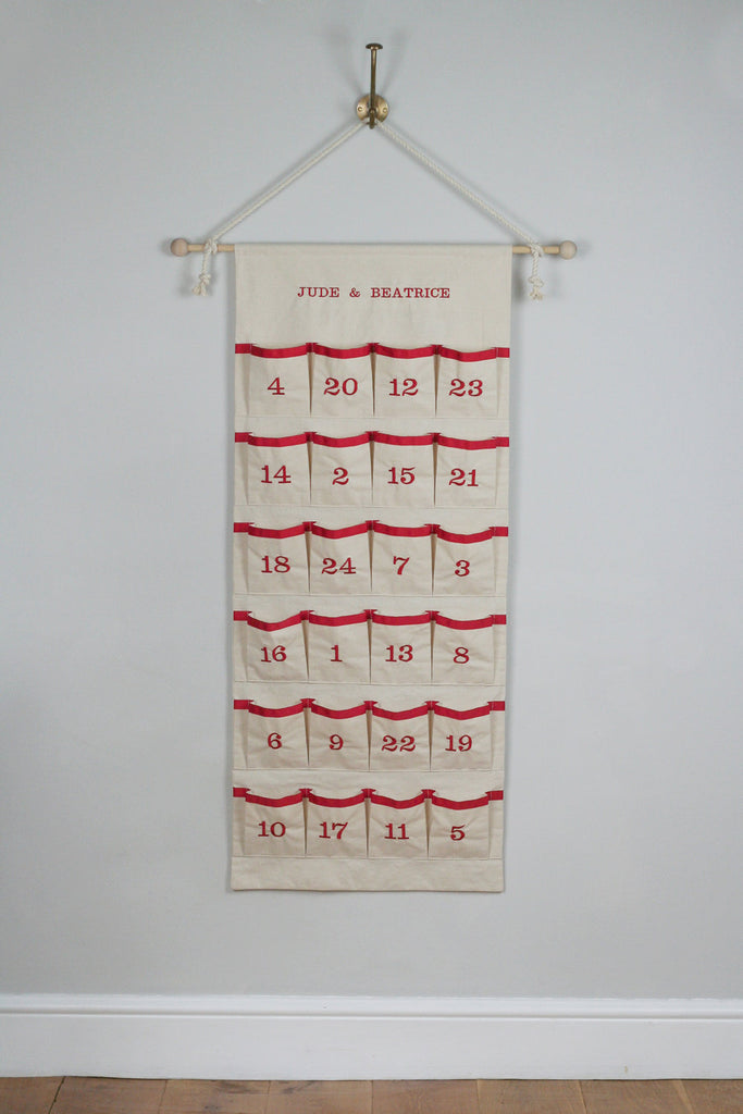 Advent Calendar - Fabric Advent Calendar - Christmas Countdown Calendar - HIDE & SEEK TEXTILES