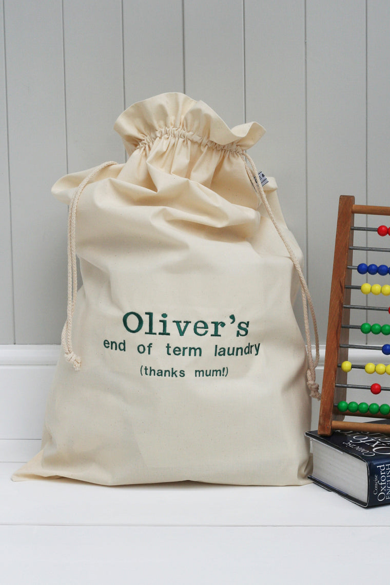 Personalised 'End Of Term' Laundry Sack - HIDE & SEEK TEXTILES