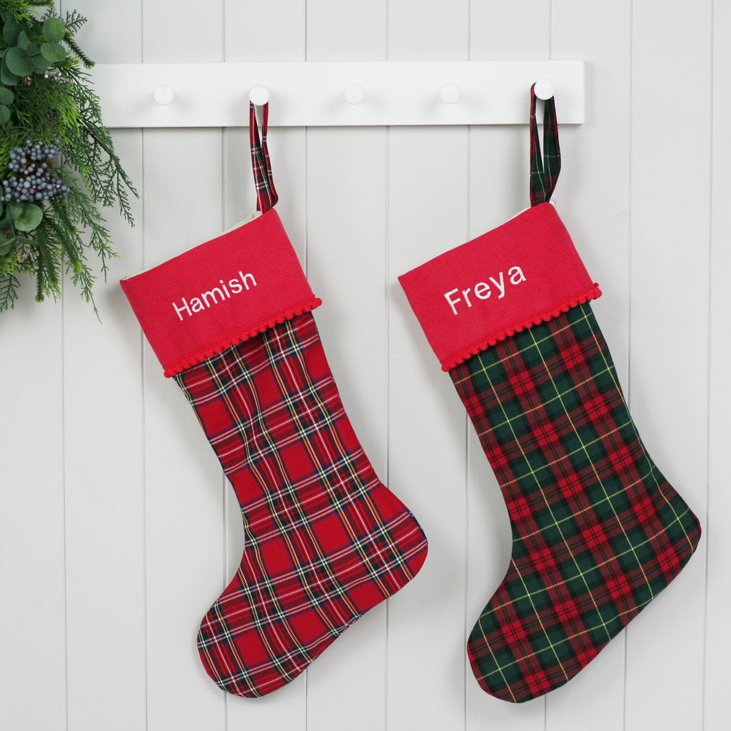 Personalised Christmas Stocking ROYAL STEWART TARTAN