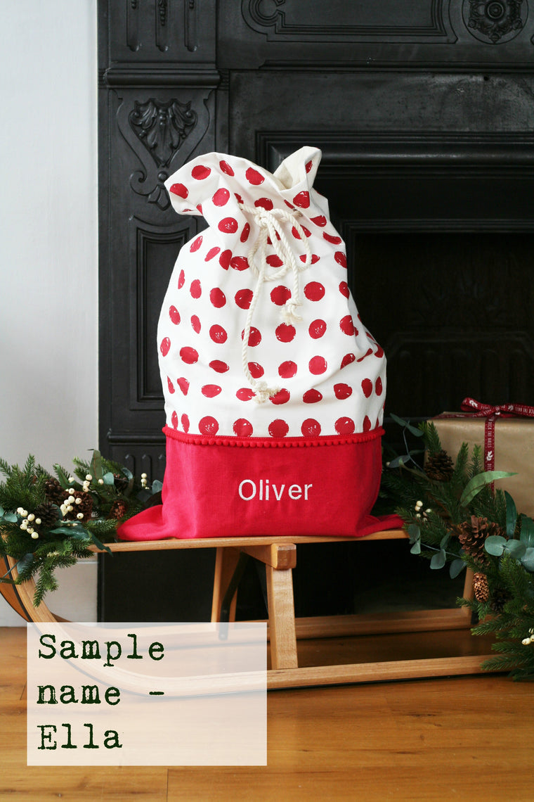 Seconds Christmas Santa Sack ELLA - HIDE & SEEK TEXTILES
