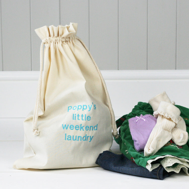 Personalised 'Little Weekend' Laundry Sack - HIDE & SEEK TEXTILES