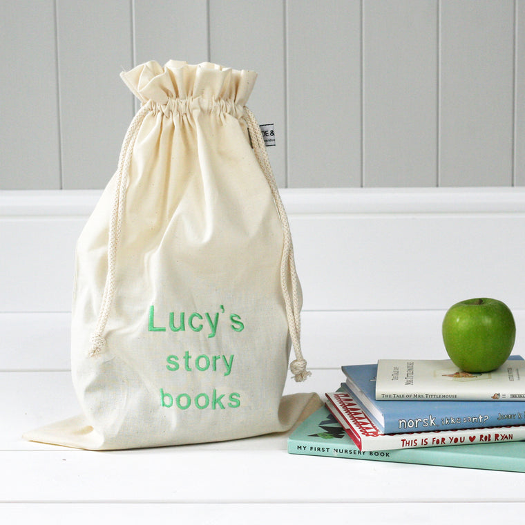 Personalised 'Little Story Books' Travel Sack - HIDE & SEEK TEXTILES