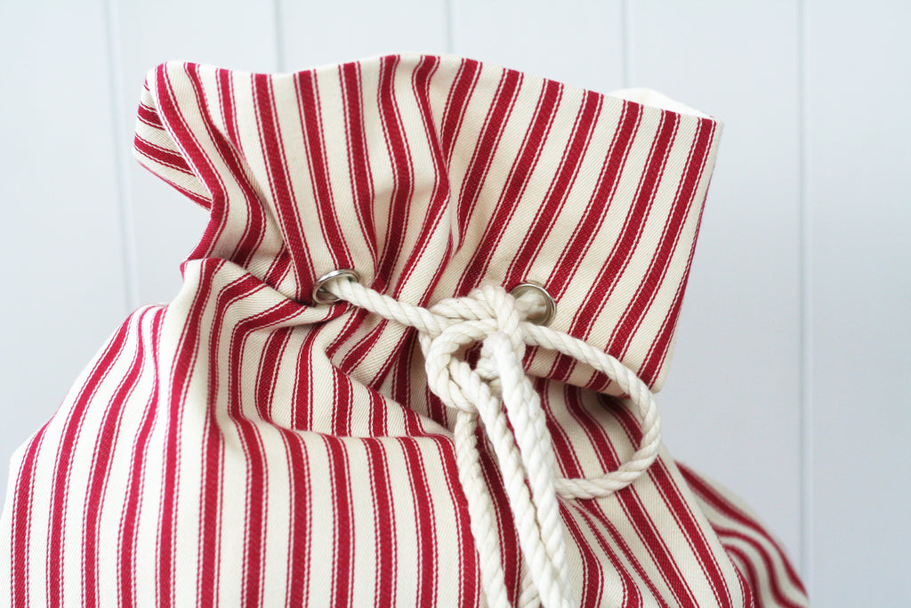 Personalised Santa Sack STRIPES - HIDE & SEEK TEXTILES
