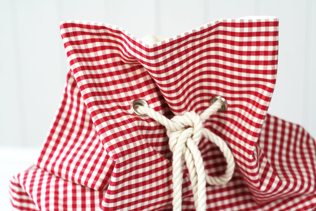 Personalised Santa Sack CHECKS - HIDE & SEEK TEXTILES