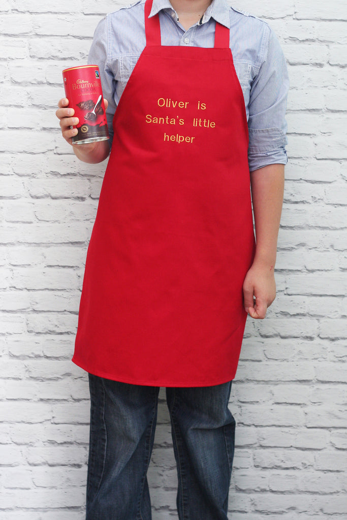 Personalised 'Santa's Little Helper' Child's Apron - HIDE & SEEK TEXTILES