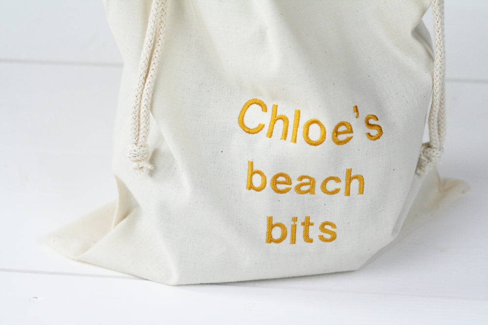 Personalised 'Little Beach Bits' Travel Sack - HIDE & SEEK TEXTILES