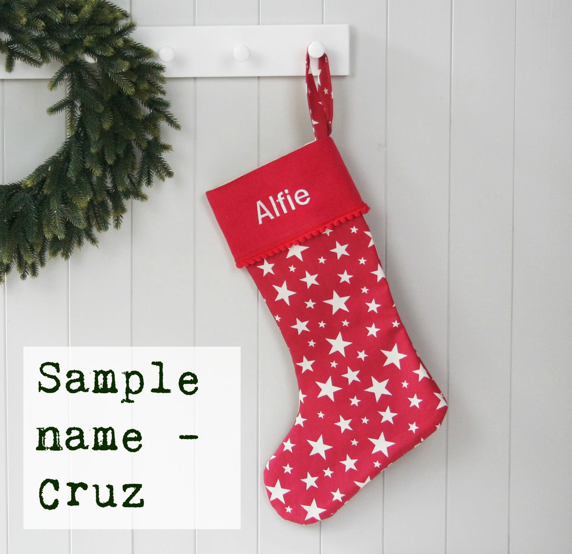 Sample Christmas Stocking CRUZ - HIDE & SEEK TEXTILES