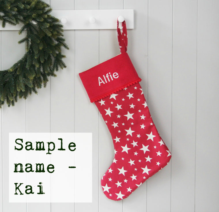 Sample Christmas Stocking KAI - HIDE & SEEK TEXTILES