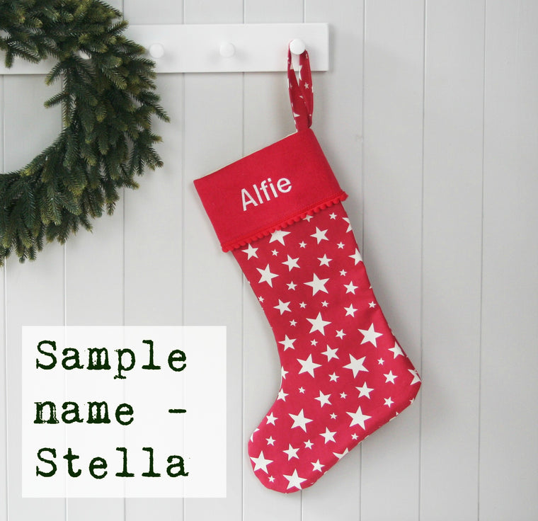 Sample Christmas Stocking STELLA - HIDE & SEEK TEXTILES