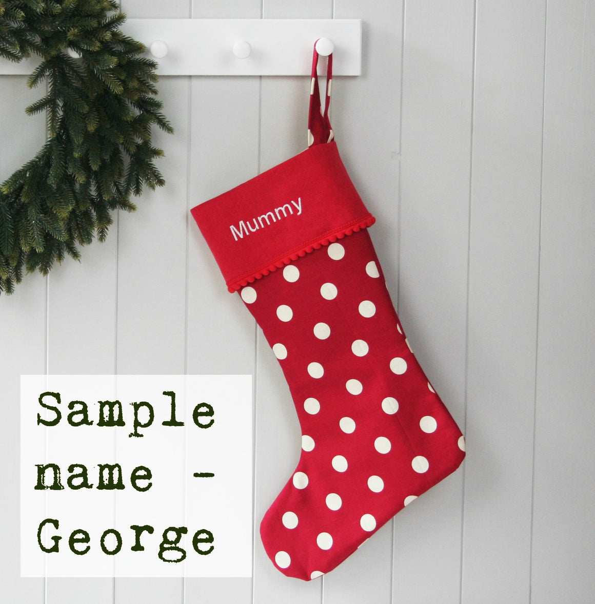 Sample Christmas Stocking GEORGE - HIDE & SEEK TEXTILES