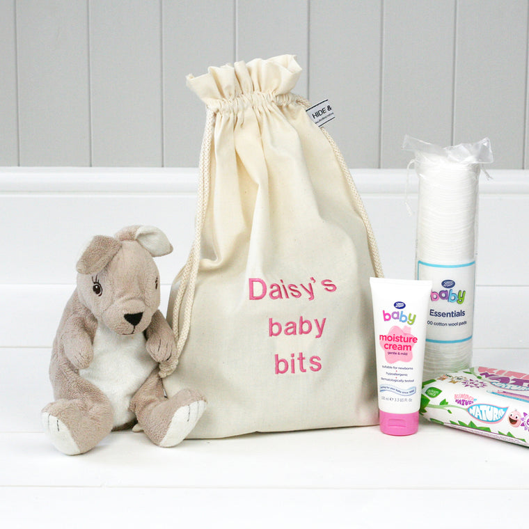 Personalised 'Little Baby Bits' Travel Sack - HIDE & SEEK TEXTILES