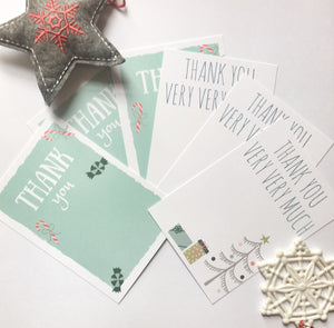 Christmas Thank You Postcards