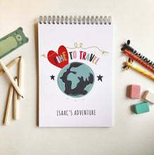 Pesonalised Travel Journal for kids