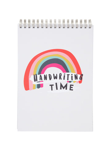 Handwriting Practice Notebook (Rainbow Cover)