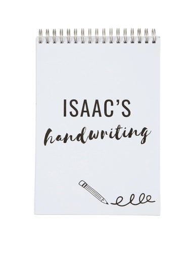 Personalised Handwriting Practice Notebook