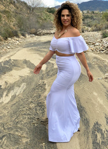 Siren Set white sizes small - XL fits up to most 3X