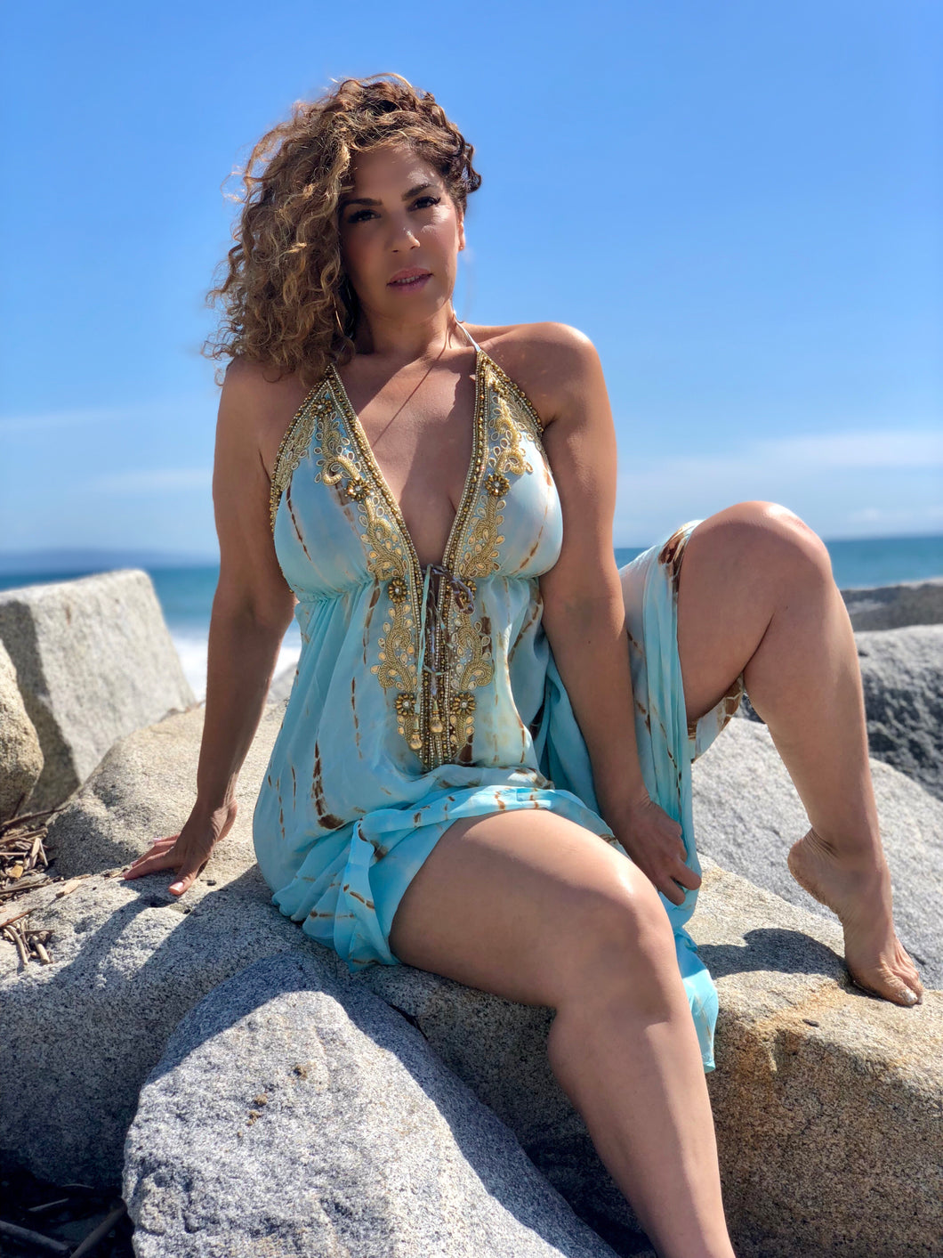 Sirena Dress/Cover up at Plushy Couture