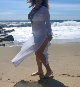 Goddess Vibes - White Swim Cover Up