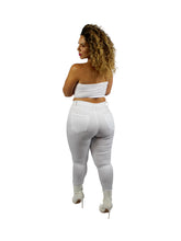Skinny Slit Jean - white & black high waisted jeans for women