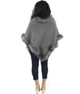 Plushy Poncho grey one size