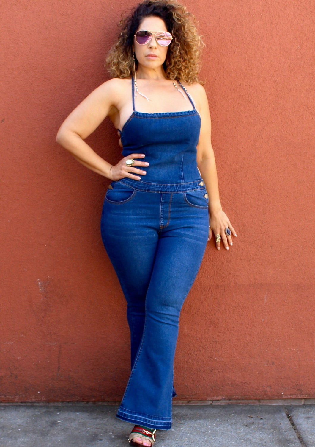 Plushy Couture Jean Jumpsuit