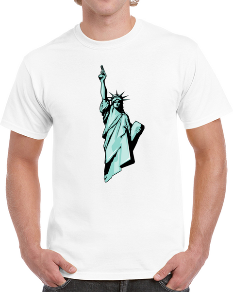 Statue Of Liberty With Gun  T Shirt